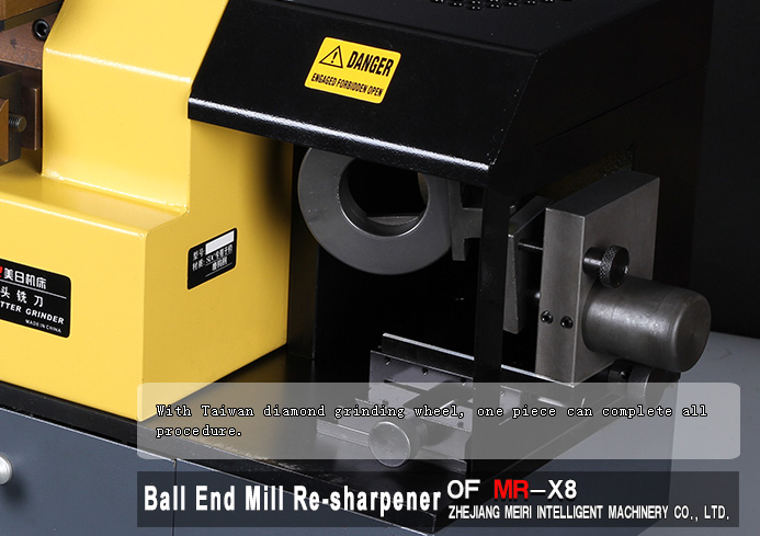 Ball end mill re-sharpening machine
